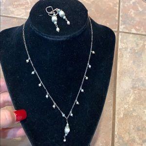 Jewelry - Sterling silver genuine pearl vintage set